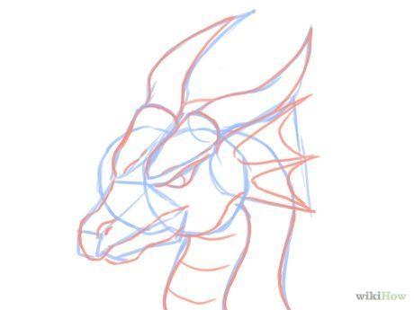 Dessiner Une Tete De Dragon Croquis De Dragon Dessin De Dragon