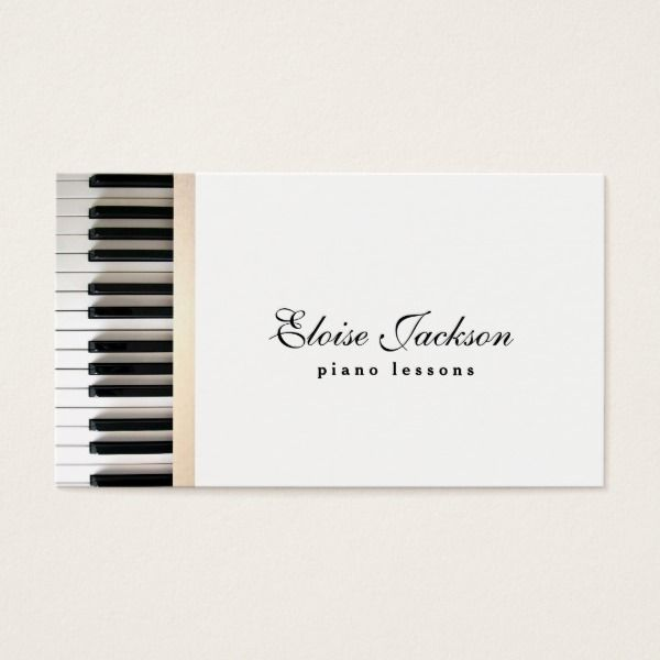 Elegant piano lessons music teacher business card custom elegant piano lessons music teacher business card custom professional business cards for teachers and tutors reheart Images