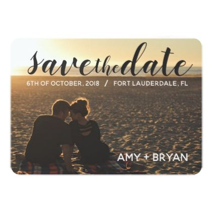 Elegant Customized Save The Date Card Engagement Giftssimple