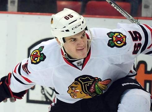 Andrew Shaw won't let the Blackhawks go down without a knock down, drag out fight.