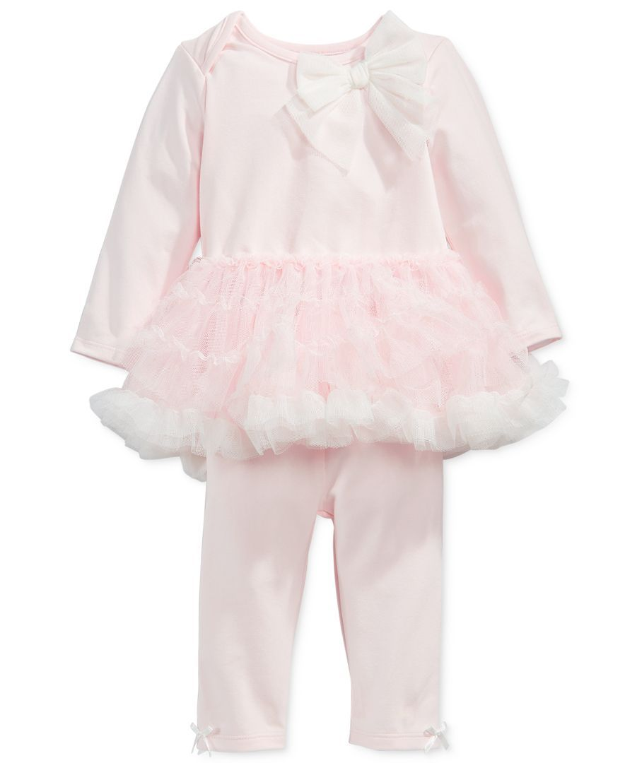 9831978eef445 First Impressions presents fresh, fluttery style for her playdates and  outings with this dreamy tulle-adorned tutu top, seamlessly paired with  matching ...
