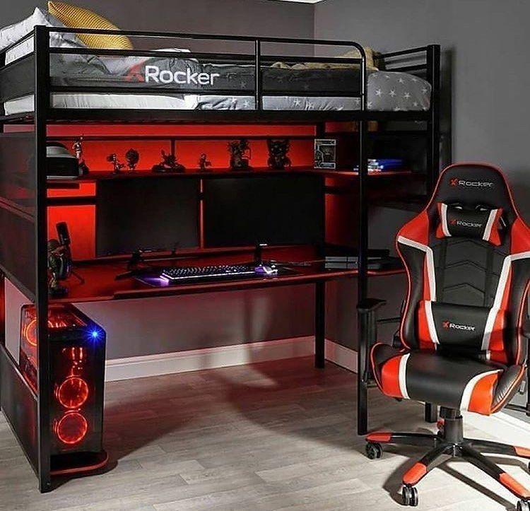 small bedroom dreamroom gaming gamer battlestation