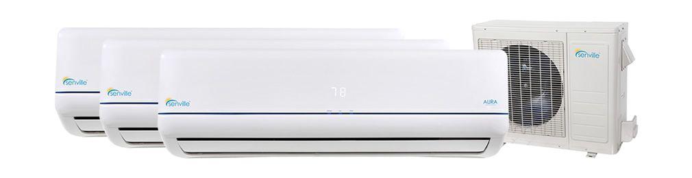 28000 Btu Tri Zone Mini Split Air Conditioner Heat Pump Sena 30hf T With Images Heat Pump Tri