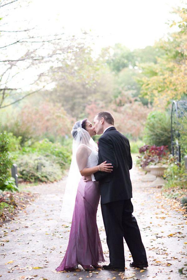 offbeat purple wedding northern virginia meadowlark gardens ombre ...