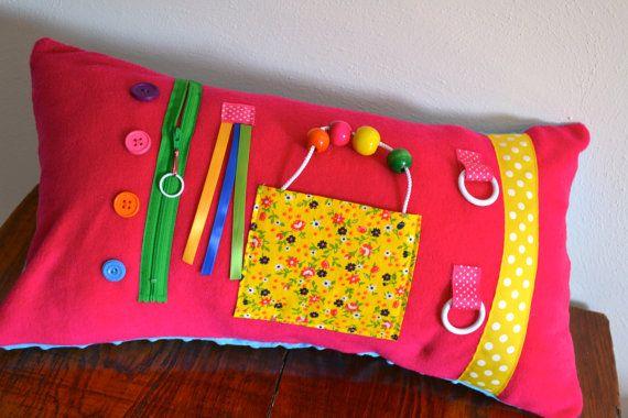 Alzheimer's Dementia Pink Activity Pillow on Etsy, $40.00