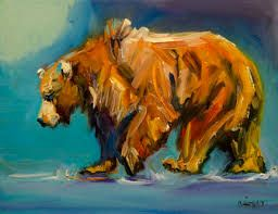 Image result for bear paintings canvas