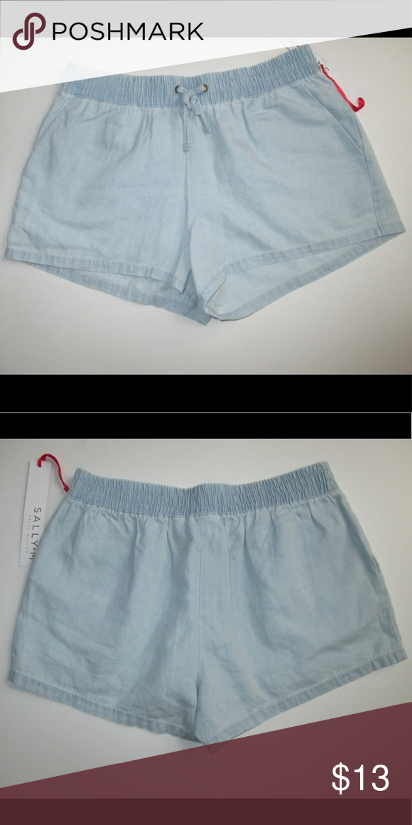 New girls 10/12 Sally Miller chambray shorts New girls size 10/12 sally miller chambray shorts Sally Miller Bottoms Shorts #sallymiller