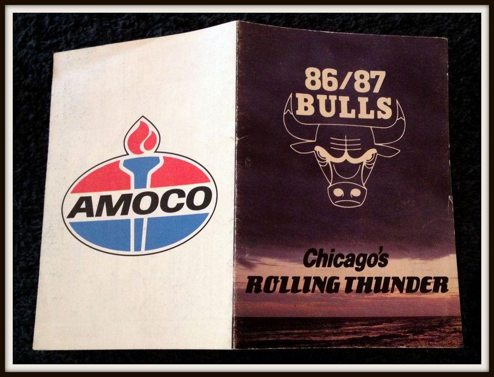 198687 CHICAGO BULLS AMOCO BASKETBALL POCKET SCHEDULE