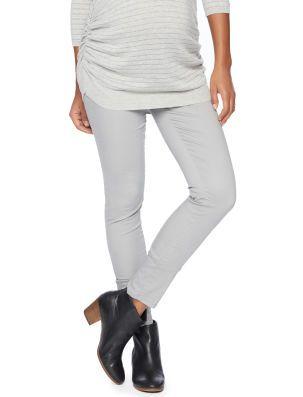 Secret Fit Belly Sateen Faux Front Pockets Skinny Leg Maternity Pants Size L