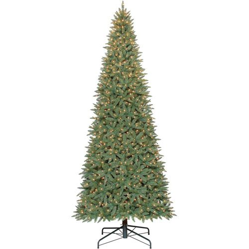 Holiday Time 12 Pre Lit Williams Slim Quick Set Artificial Christmas Tree Clear Lights Christmas Decor Walmart Com Pre Lit Christmas Tree Pine Christmas Tree Christmas Tree Clear Lights