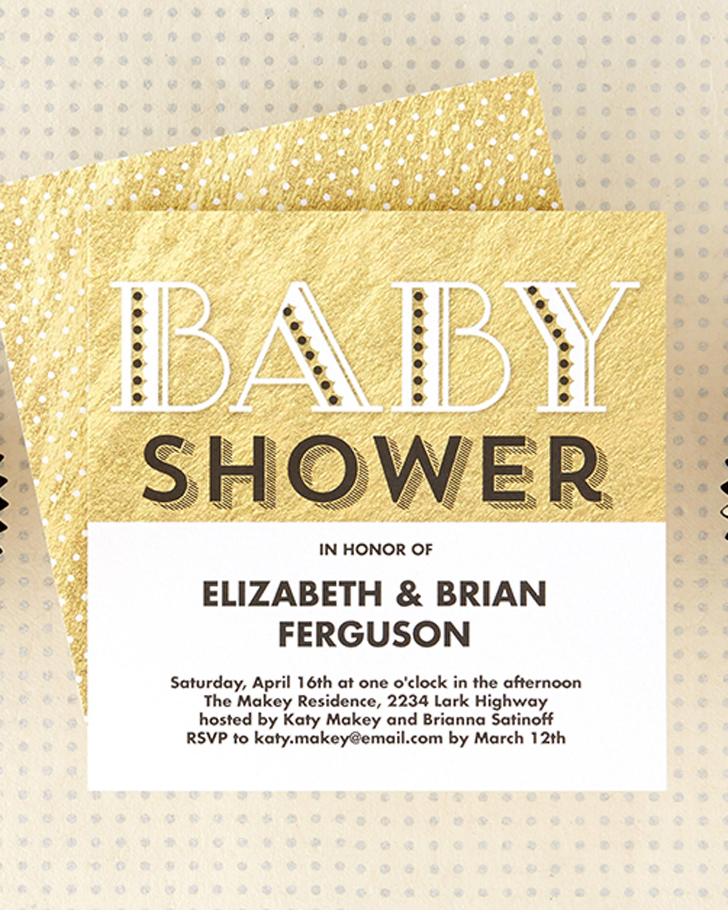 Find a sparkling baby shower invitation fit for mommy and her baby ...
