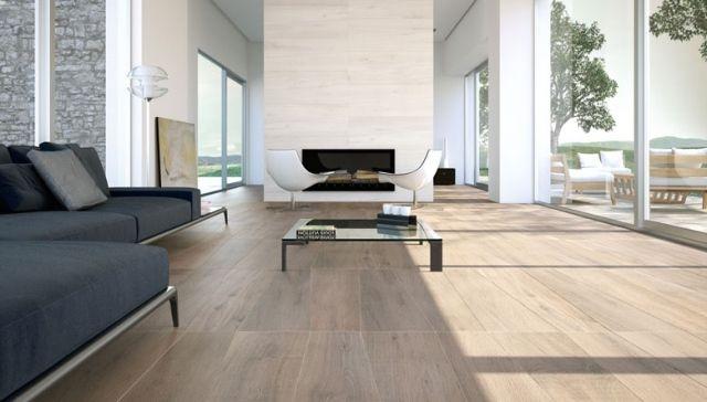 Moderne Fliesen Wohnbereich : wohnzimmer bodenfliesen modern holzoptik fensterfront ~ Sanjose-hotels-ca.com Haus und Dekorationen