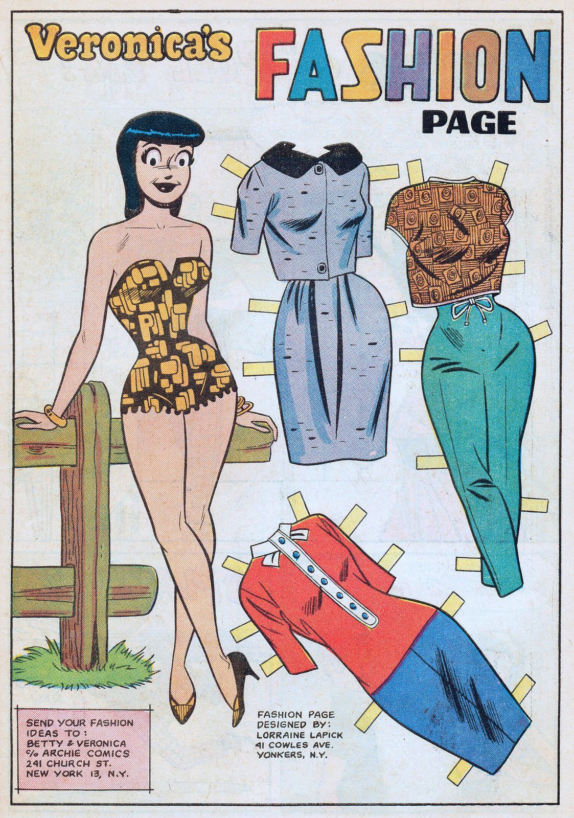 PD201 Veronica´s Fashion Paper Doll from The Archies