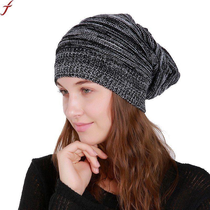f63c56a55 2018 women's winter hats cap men women warm knitted skullies beanie hat new  high quality female