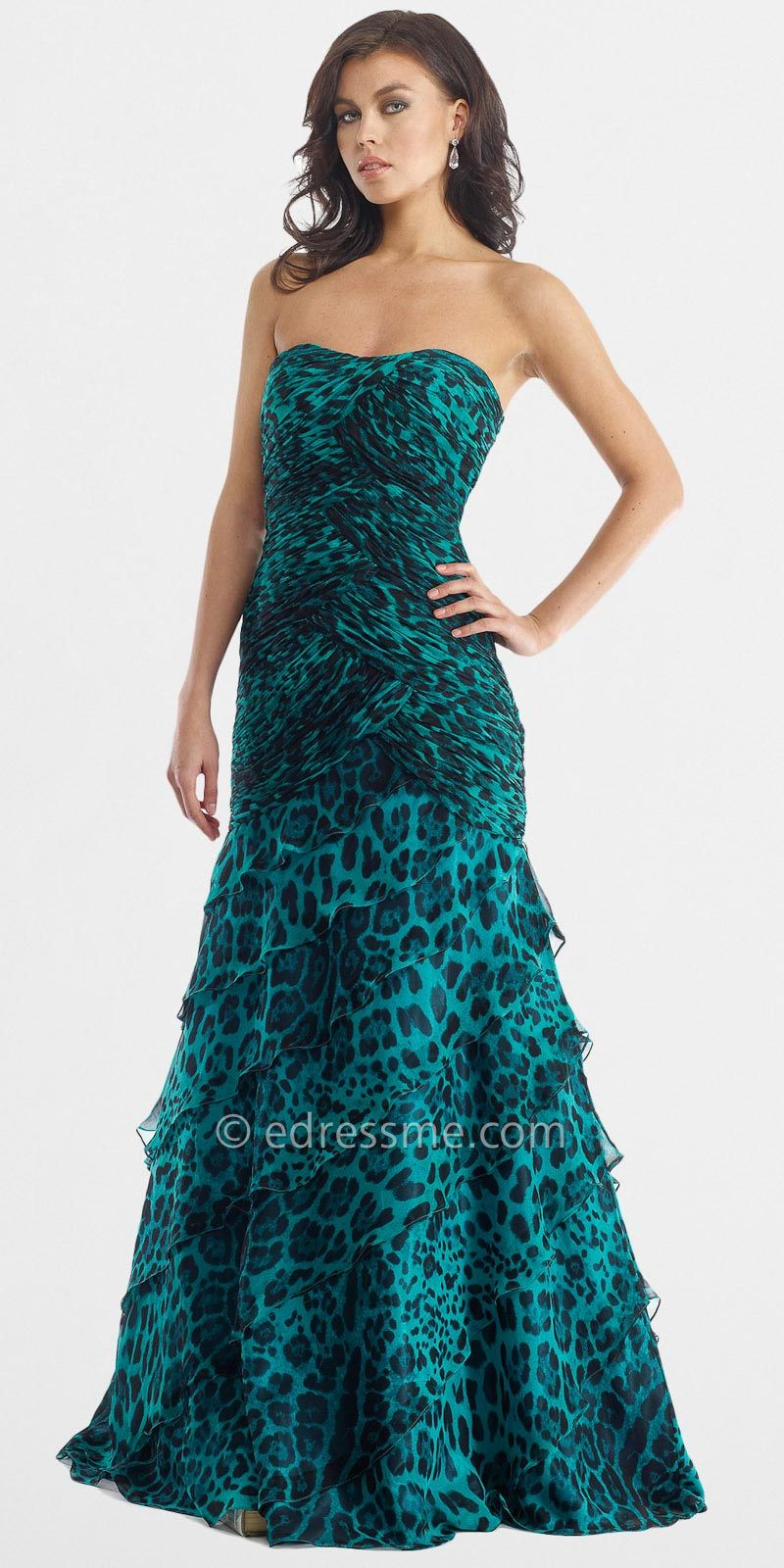 Green animal prom dress prom dresses by morell maxie green