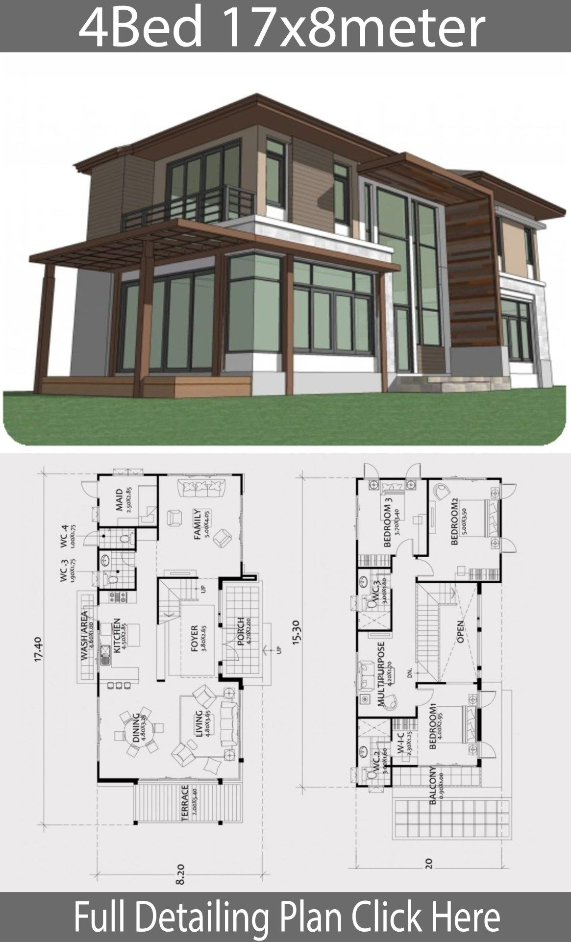 Home Design Plan 17x8m With 4 Bedrooms Home Design With Plansearch Beach Style House Plans Home Design Plan House Plans Mansion