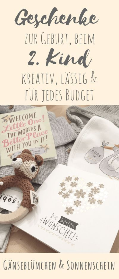 Die besten Babygeschenke fürs 2. Kind - kreativ, lässig & für jedes Budget #partybudgeting