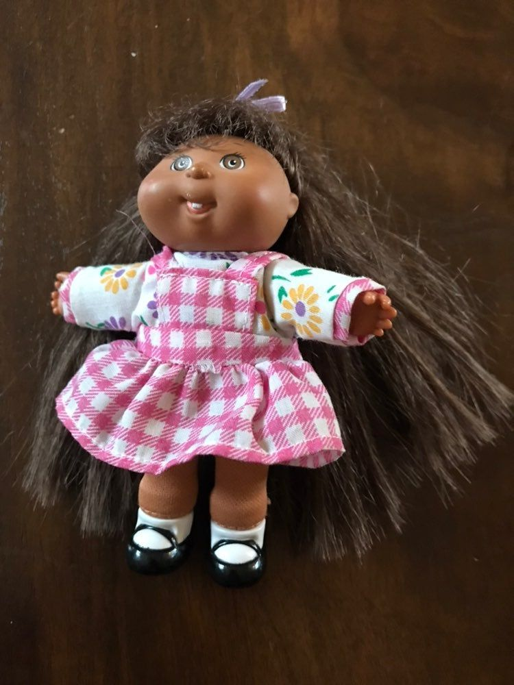 Vintage Mattel Mini Cabbage Patch Doll 1995 About 5 Tall Played With Condition Comes Cabbage Patch Kids Dolls Black Cabbage Patch Doll Cabbage Patch Dolls