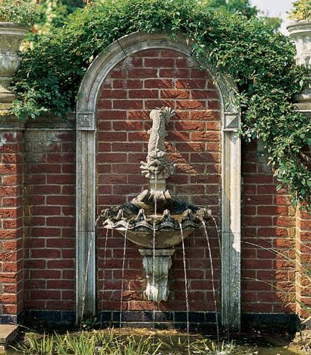 wall fountain garden ornaments Pinterest Wall fountains, Wall