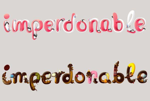 IMPERDONABLES   Fonts Inspirations   The Design Inspiration