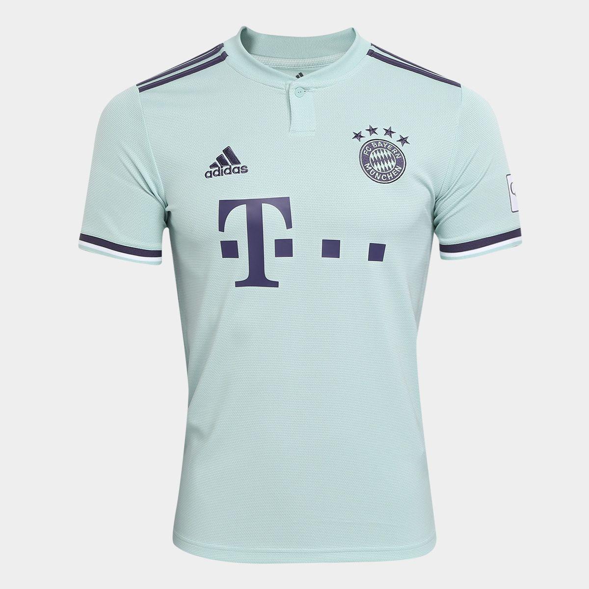 2f3db390e61f8 Camisa Bayern de Munique Away 2018 s/n° - Torcedor Adidas Masculina - Verde
