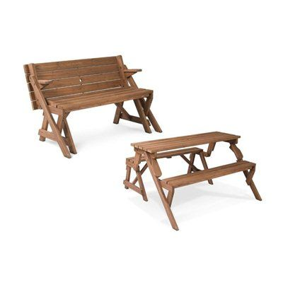Leisure Season FPTB7104 Folding Picnic Table Bench - Lowes Canada ...