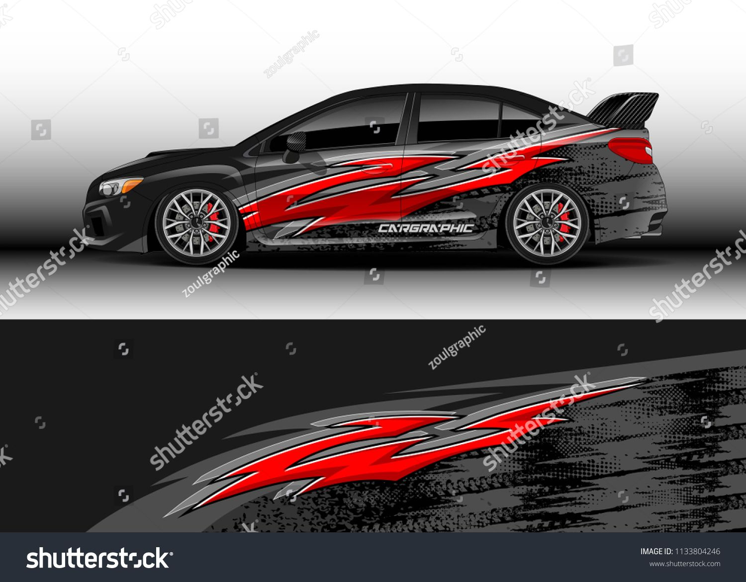 Car Decal Graphic Vector Wrap Vinyl Sticker Graphic Abstract