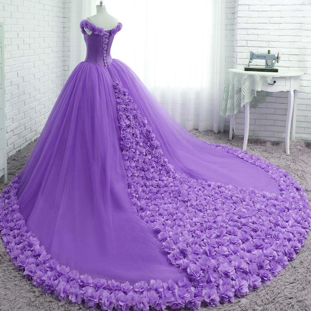 Uniqe custom made handmade flowers rose wedding dresses new fashion