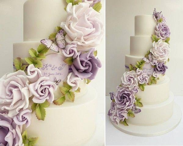 Purple Lilac Lavender Wedding Cakes Lavender Wedding Cake Wedding Cakes Lilac Lavender Wedding