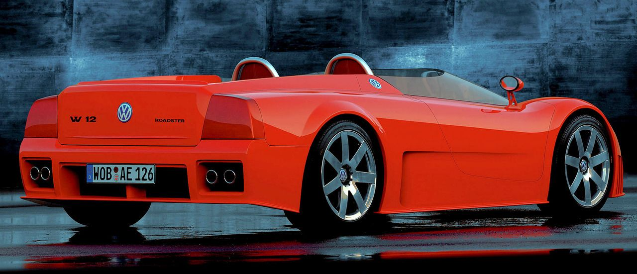 Volkswagen W12 Roadster 1998 By Italdesign A Mid Engined Supercar