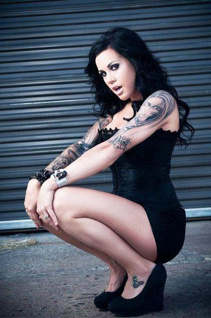 Black dress elegant tattoos