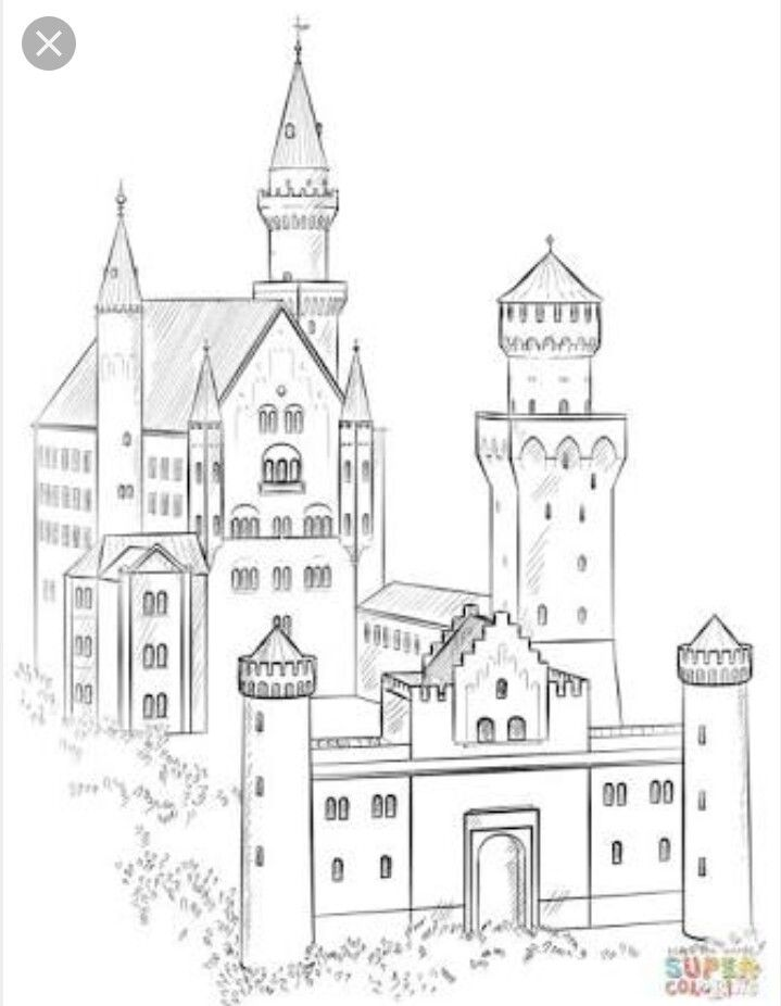 Pin By Random Mode On Art From The Heart Drawing Tutorial Drawing For Beginners Neuschwanstein Castle
