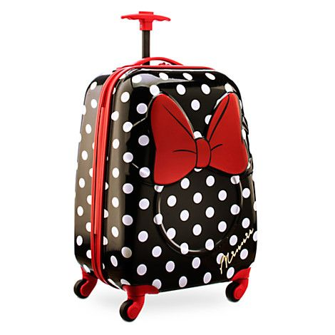 Minnie Mouse Rolling Luggage | So Minnie Trends | Pinterest ...