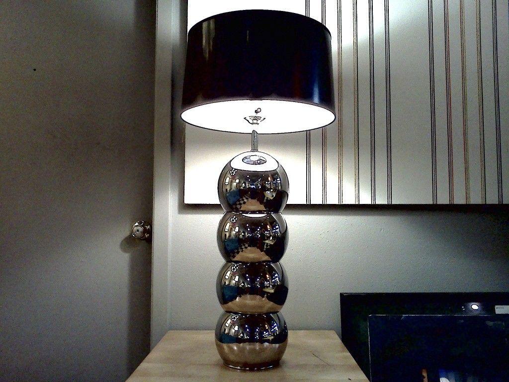 George Kovacs Chrome Stacked Ball Lamp Cool Stuff Houston Mid Century Modern Furniture Minka Lighting Lamp Ball Lamps