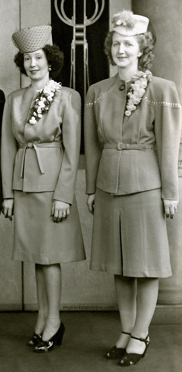 The Real And The Inspired By 1940s Fashion: Pin By 1930s/1940s Women's Fashion On 1940s Suits