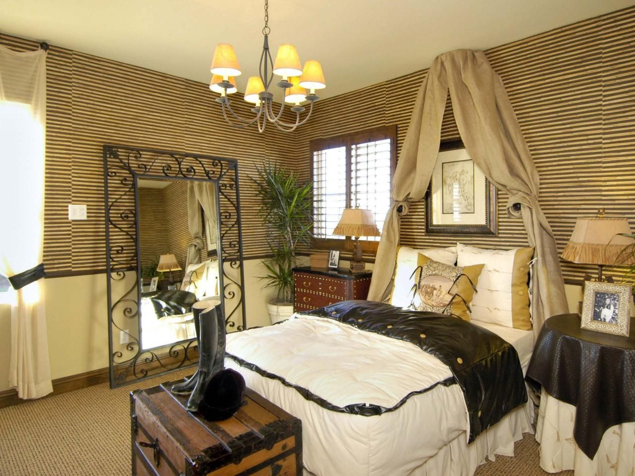 Bamboo Bedroom Decor Style Remodelling Earthy Tones And Textures Envelop This Room In A Safariinspired .