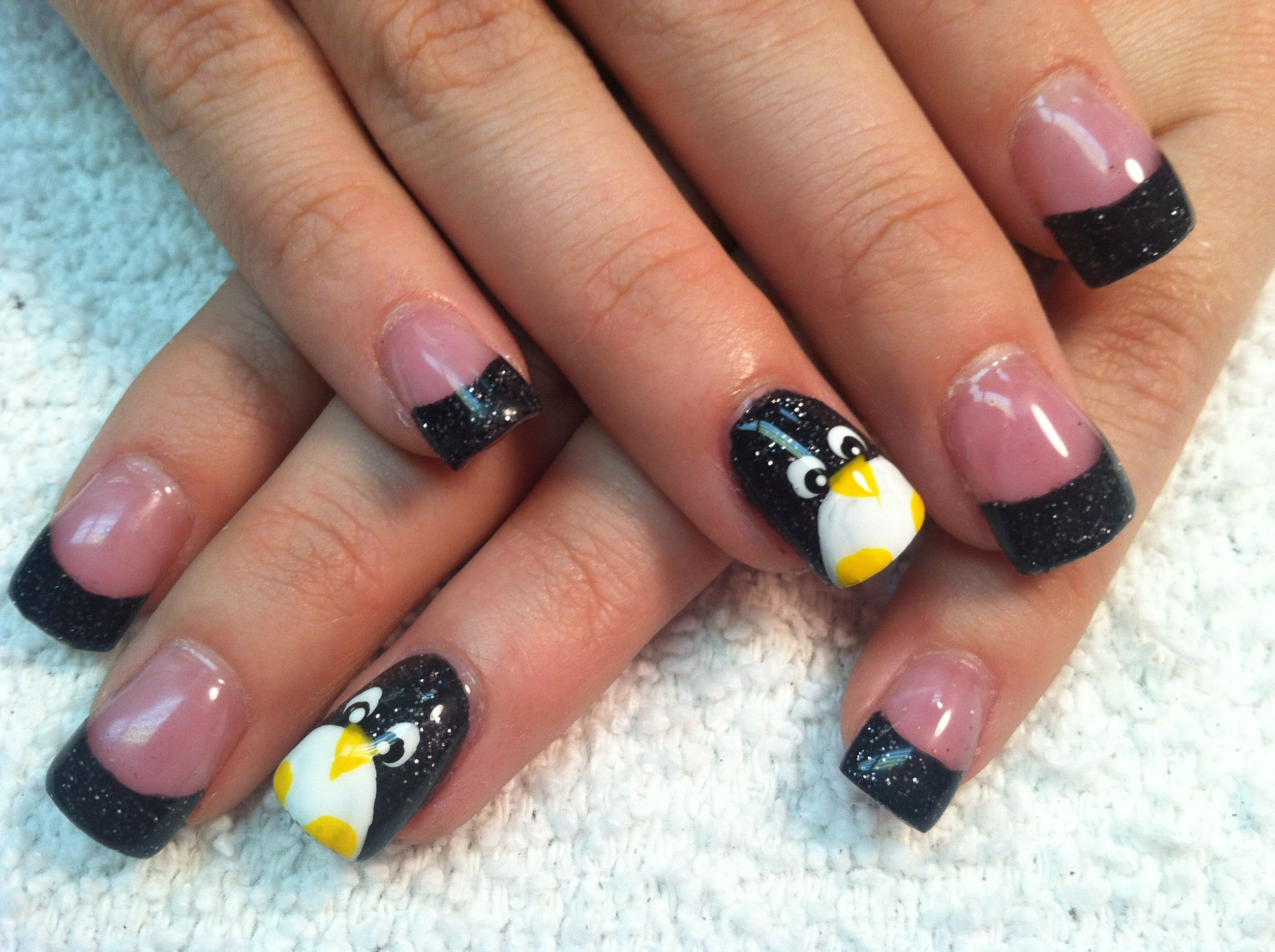 Penguin nails | nails | Pinterest | Penguin nails, Penguins and Fun ...