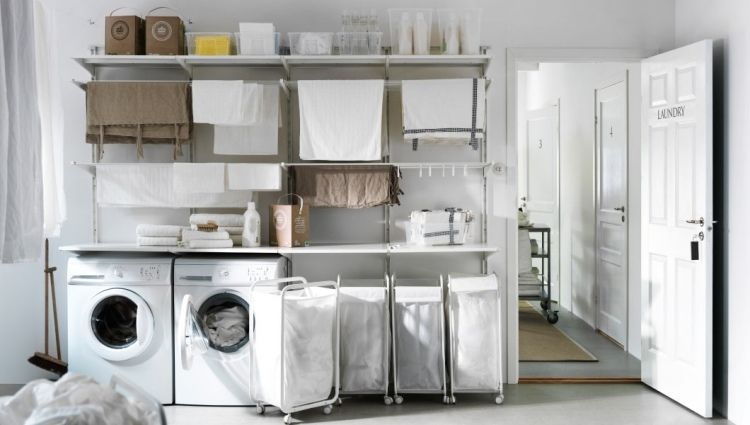 La buanderie la maison 27 id es d 39 am nagement pratique - Amenagement dressing ikea ...