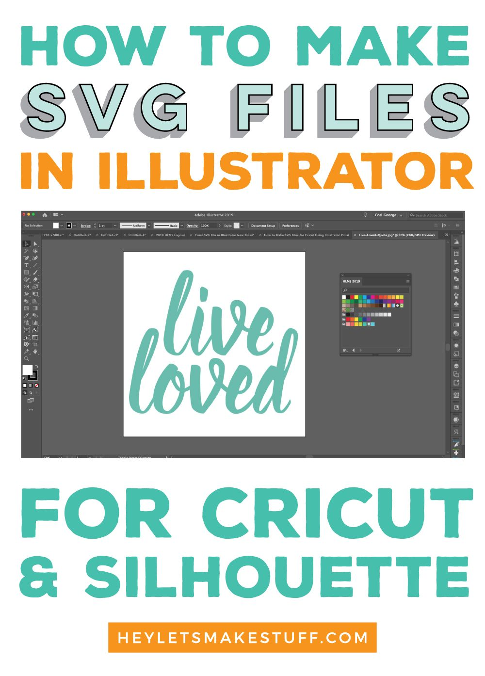 How to Make SVG Files for Cricut Using Illustrator in 2020