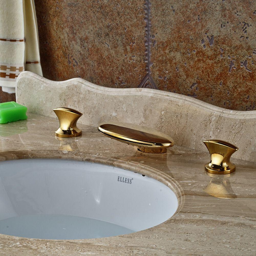 Wholesale And Retail Widespread Bathroom Basin Faucet Deck - Retail bathroom fixtures