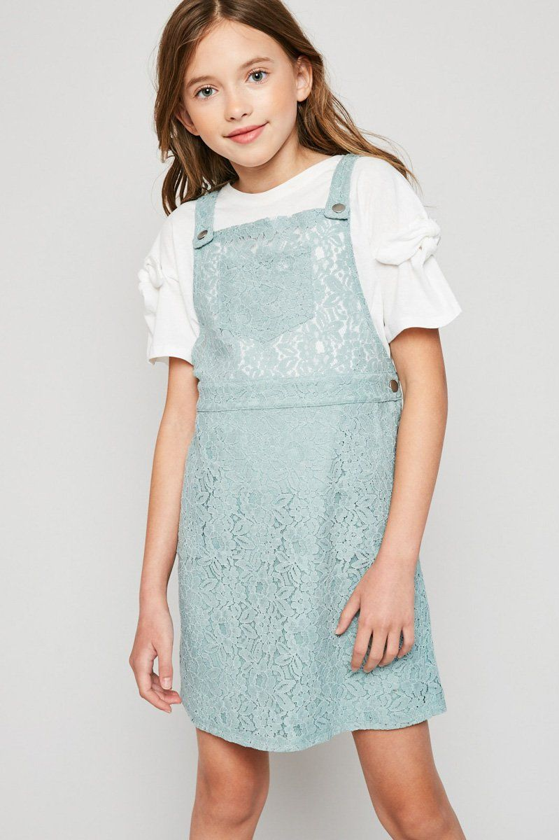 Lace Skirtall Overall Dress In 2021 Overall Dress Clothes Lace Outfit [ 1200 x 799 Pixel ]