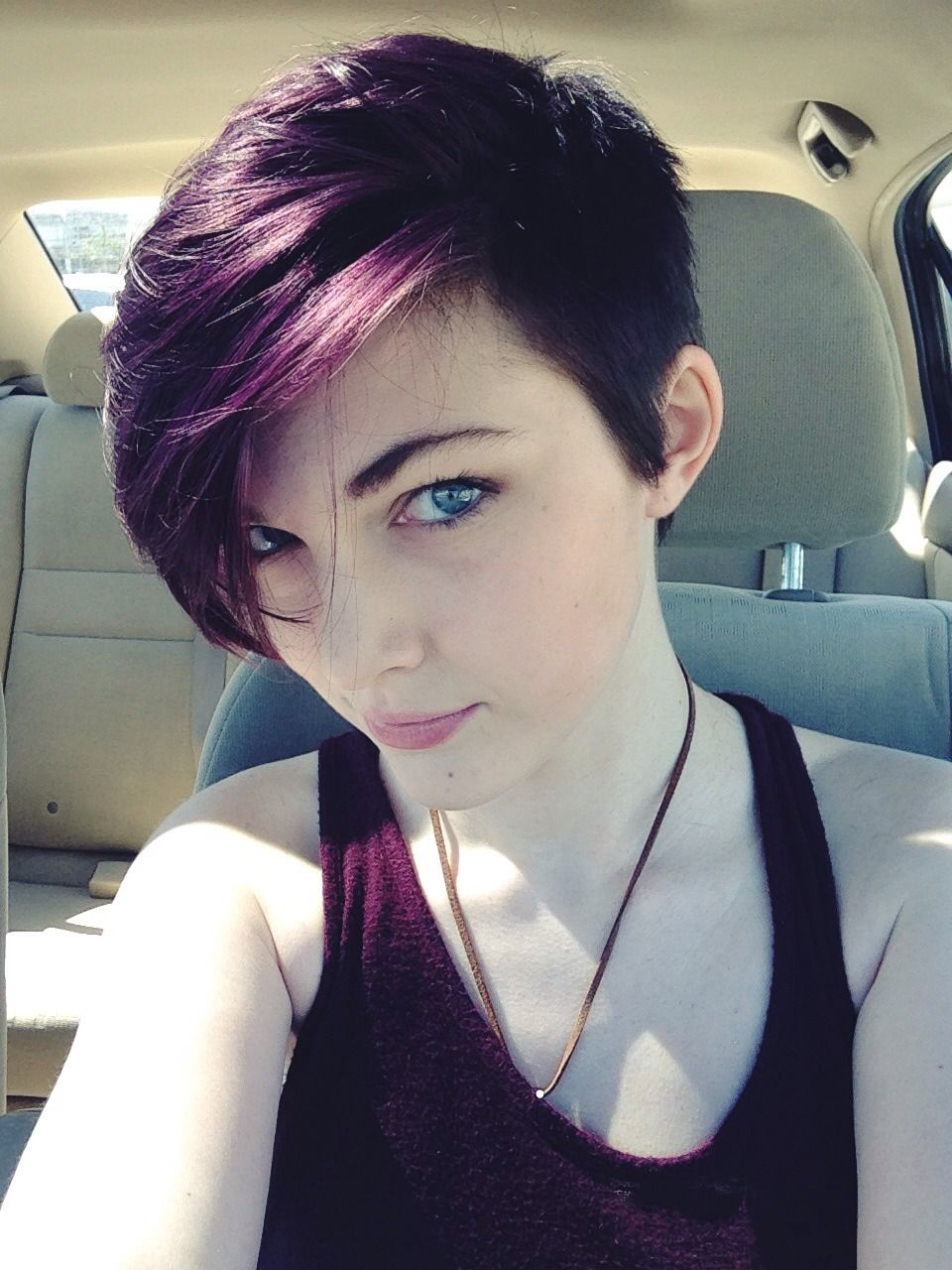 stylish hair color designs purple hair ideas to try saturday