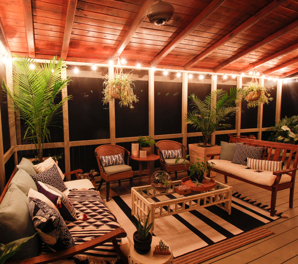 Screen Porch & Outdoor Living Room Makeover | DeeplySouthernHome