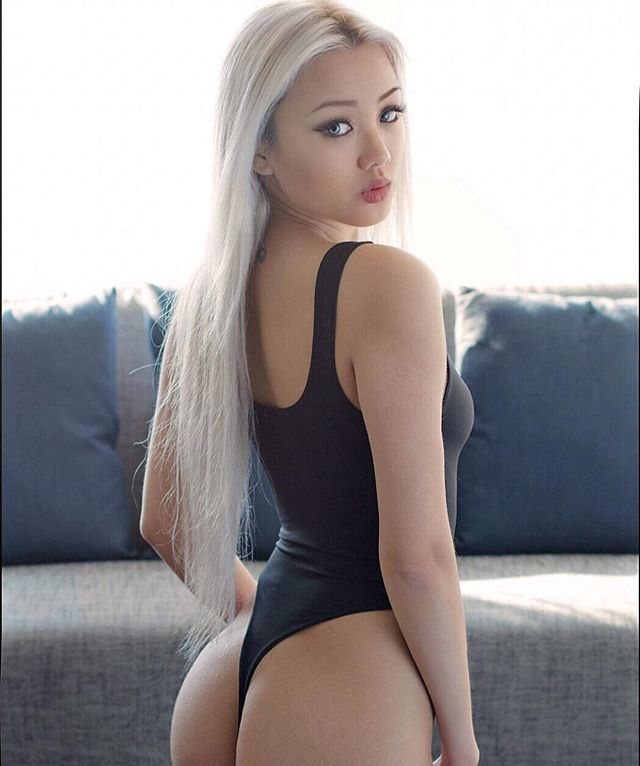 hot blonde asian girl