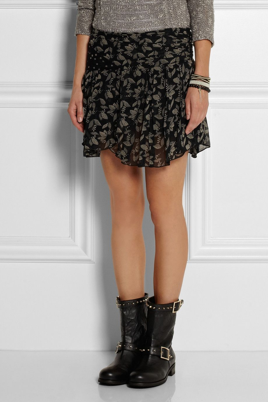 ec764aae94a4 Étoile Isabel Marant | Prune printed georgette mini skirt | NET-A-PORTER.COM