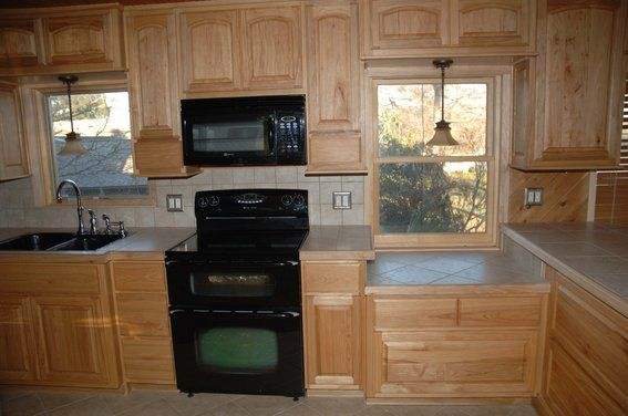 Assembled Hickory Kitchen Cabinets Custom Made Hickory Kitchen Cabinets