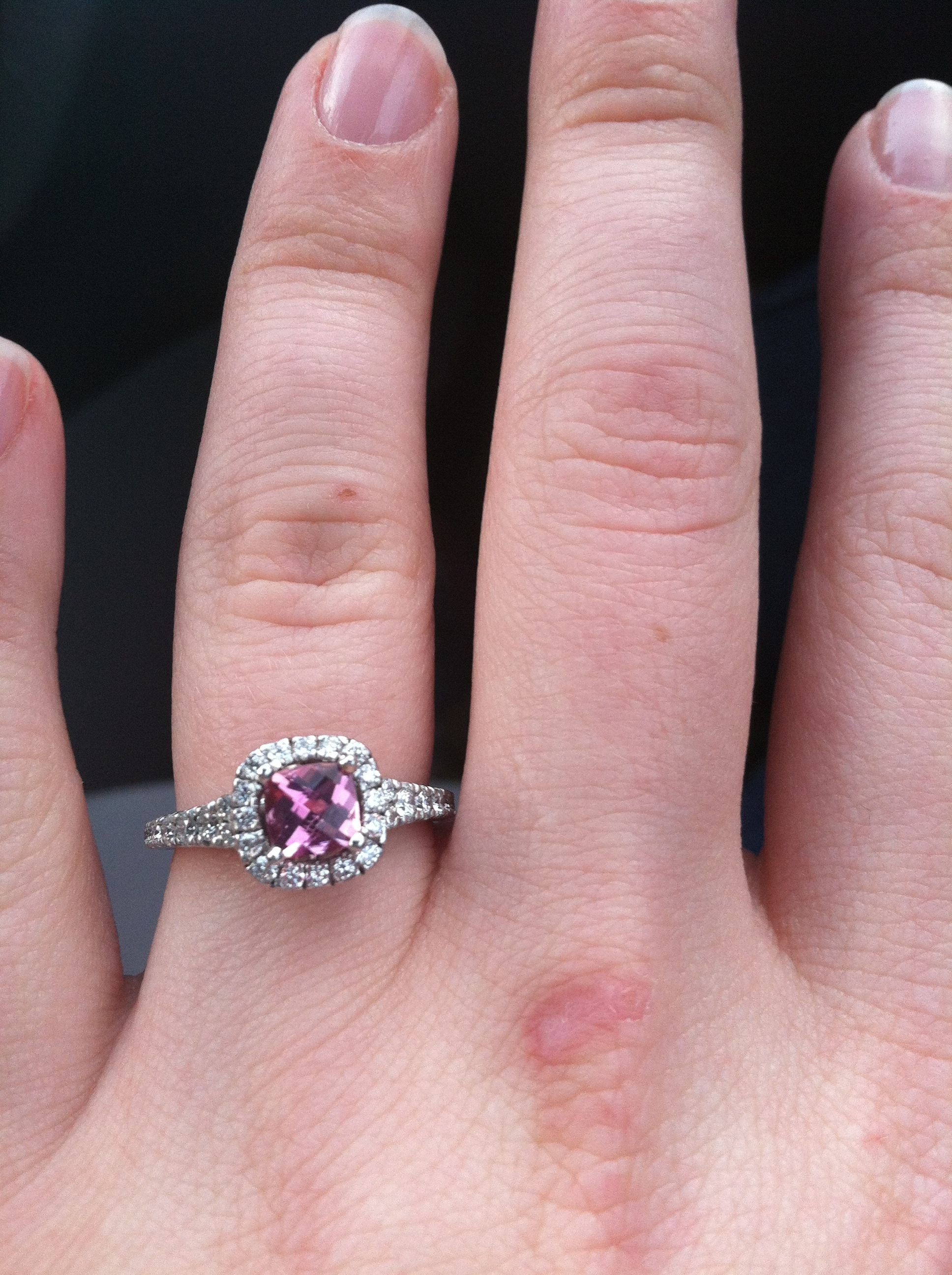 Scott Kay ring with a pink sapphire-let\'s talk marriage ;) | www ...
