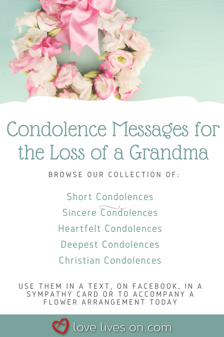 Grandmother condolence message