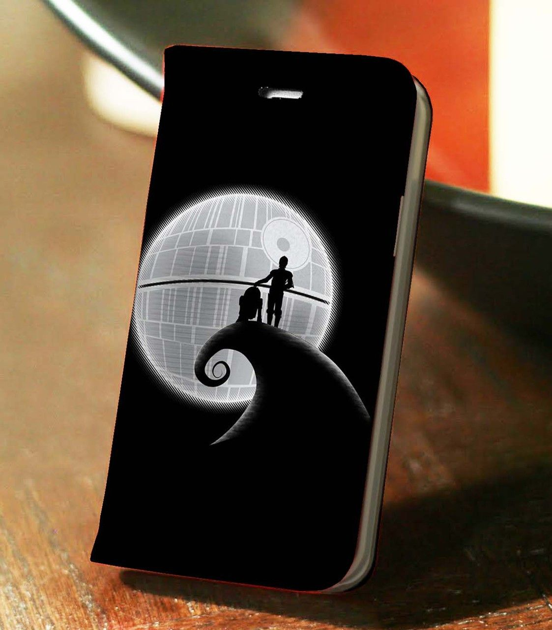 Star Wars Nightmare Before Christmas Wallet Case for iPhone 4, 4S, 5, 5S, 6, 6 Plus, 7, Samsung Galaxy S3, S4, S5, S6, S7 Case - www.lsnconecall.com