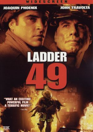Ladder 49 (2004) Joaquin Phoenix, John Travolta. Trapped in a horrific factory fire that might kill him, a fireman looks back at his life, career and marriage while he waits for the remote possibility that his company -- Ladder 49 -- might rescue him, if they can just reach him in time..1